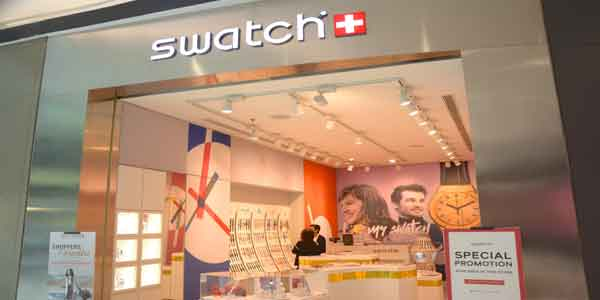 Swatch shop front in lippo mall puri st. moritz