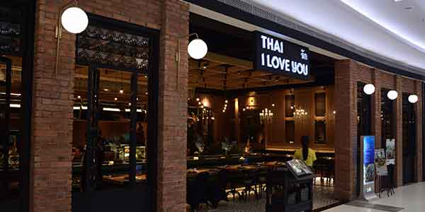 Thai I Love You shop front in lippo mall puri st. moritz