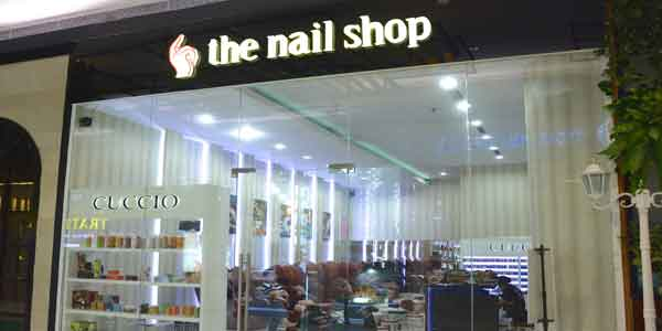 The Nail Shop shop front in lippo mall puri st. moritz