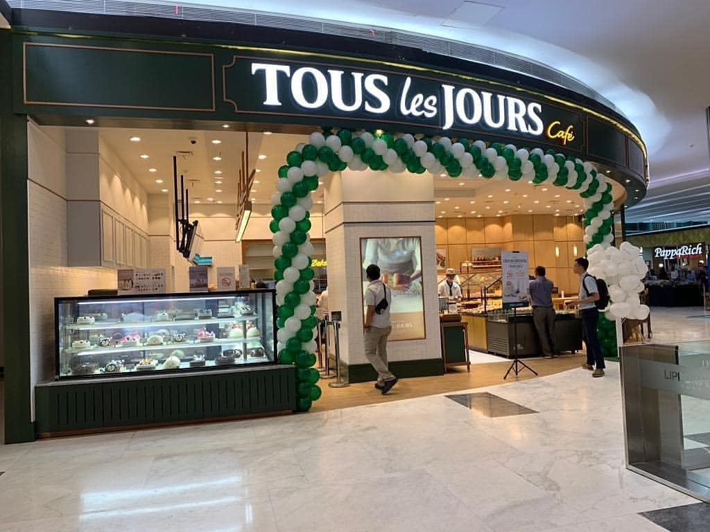 Tous Les Jours shop front in lippo mall puri st. moritz