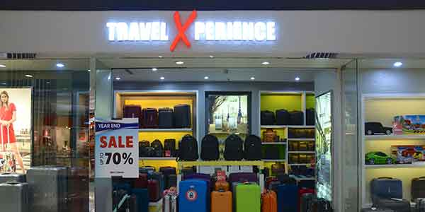 Travel Xperience shop front in lippo mall puri st. moritz