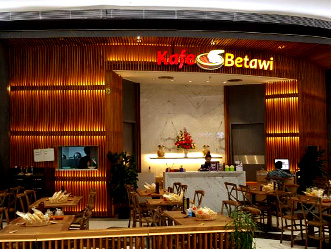Kafe Betawi shop front in lippo mall puri st. moritz