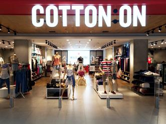 Cotton On shop front in lippo mall puri st. moritz