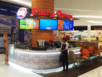 Dairy Queen shop front in lippo mall puri st. moritz
