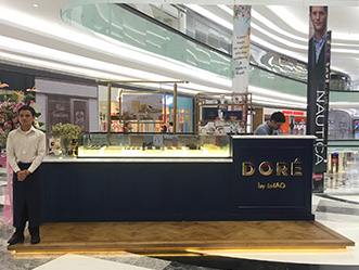 Dore by Letao shop front in lippo mall puri st. moritz