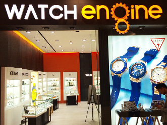 Watch Engine shop front in lippo mall puri st. moritz