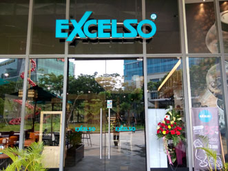 Excelso shop front in lippo mall puri st. moritz