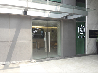 Fore Coffee shop front in lippo mall puri st. moritz