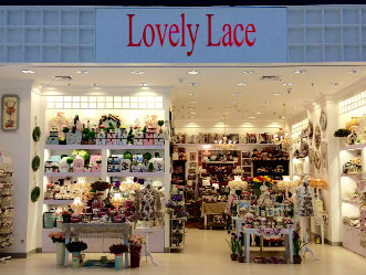 Lovely Lace shop front in lippo mall puri st. moritz