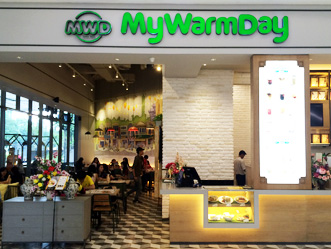 My Warm Day shop front in lippo mall puri st. moritz