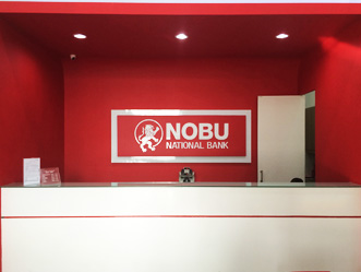 Nobu National Bank shop front in lippo mall puri st. moritz