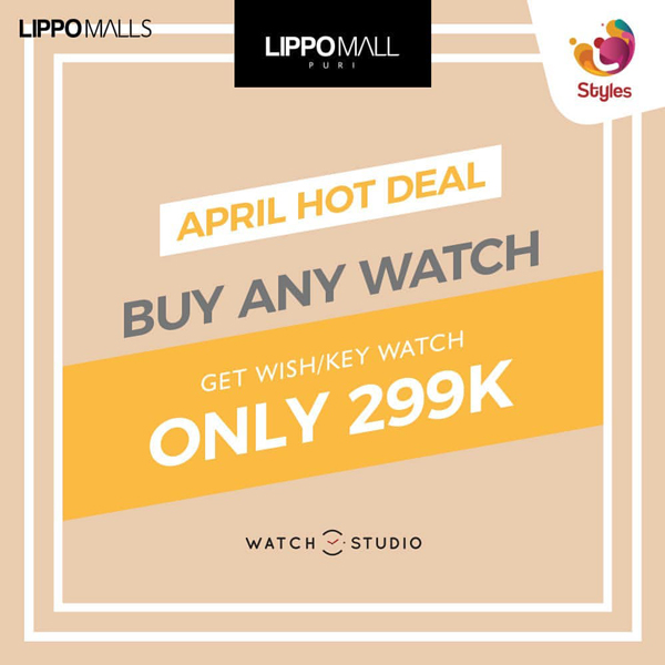 Watch Studio Promo in lippo mall puri st. moritz