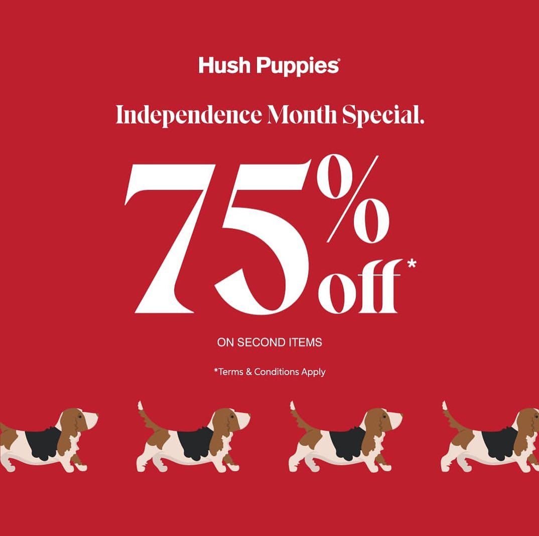 Hush Puppies Promo in lippo mall puri st. moritz