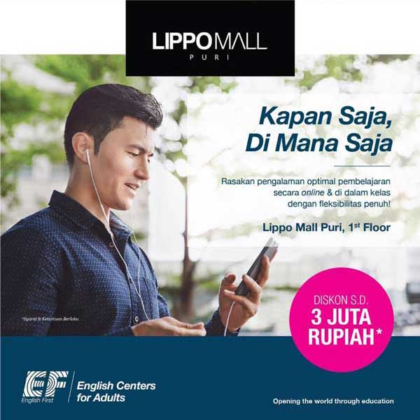 english first promo in lippo mall puri st. moritz