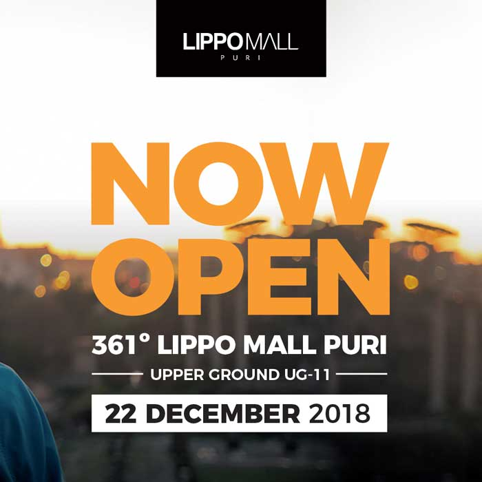 361 Degrees now open in lippo mall puri st. moritz