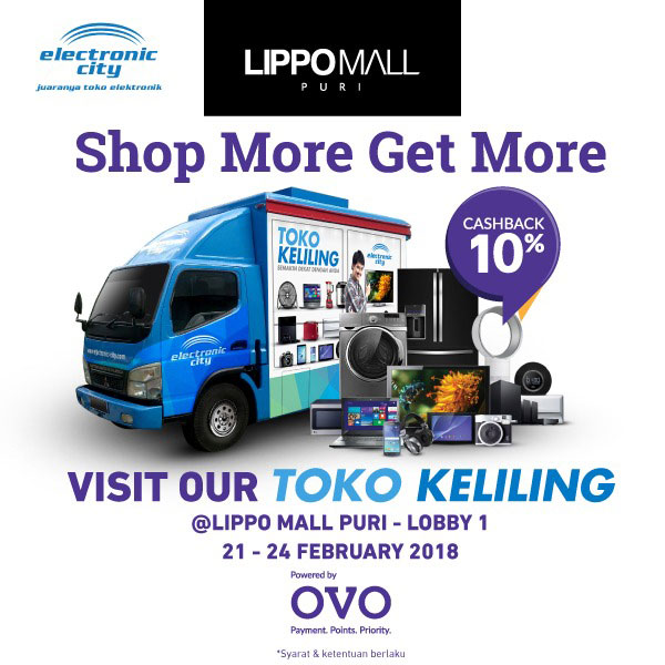 electronic city promo in lippo mall puri st. moritz