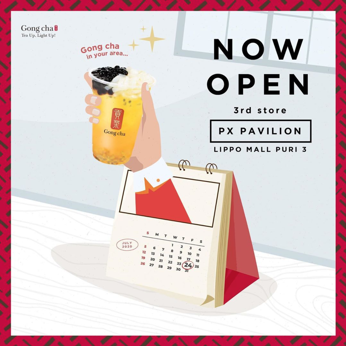 Gong Cha Now Open in lippo mall puri st. moritz