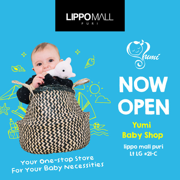 yumi baby shop now open in lippo mall puri st. moritz