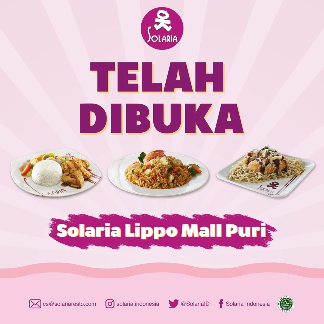 Solaria Now Open in lippo mall puri st. moritz