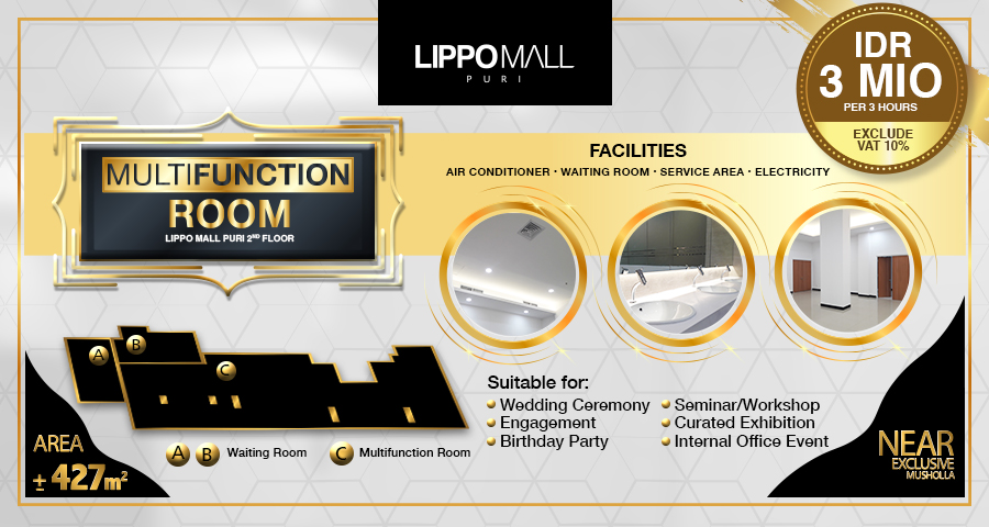 Multifunction Room in lippo mall puri st. moritz