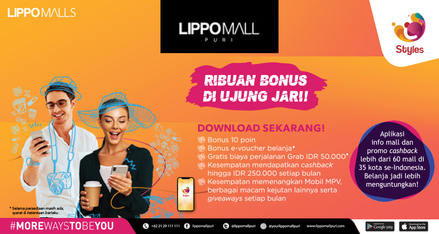 Styles Apps Launch in lippo mall puri st. moritz