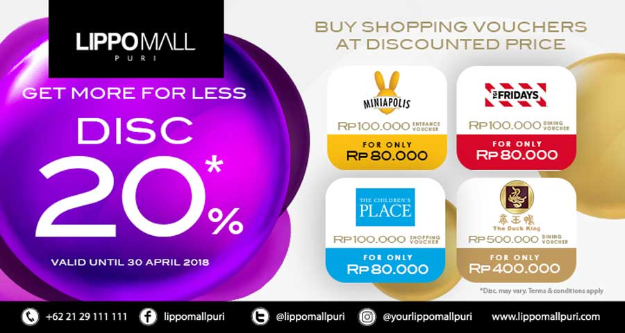 shopping voucher event in lippo mall puri st. moritz