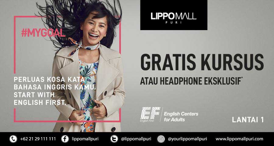 english first in lippo mall puri st. moritz