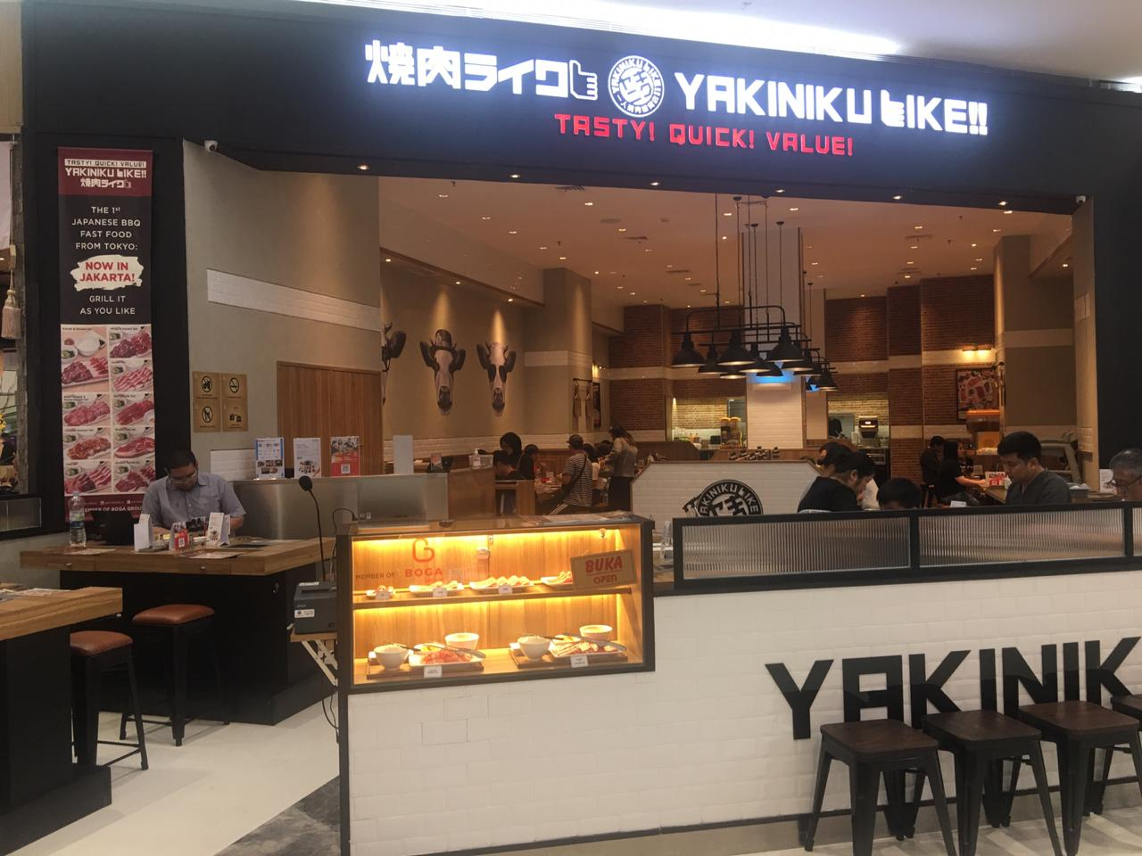 Yakiniku Like shop front in lippo mall puri st. moritz