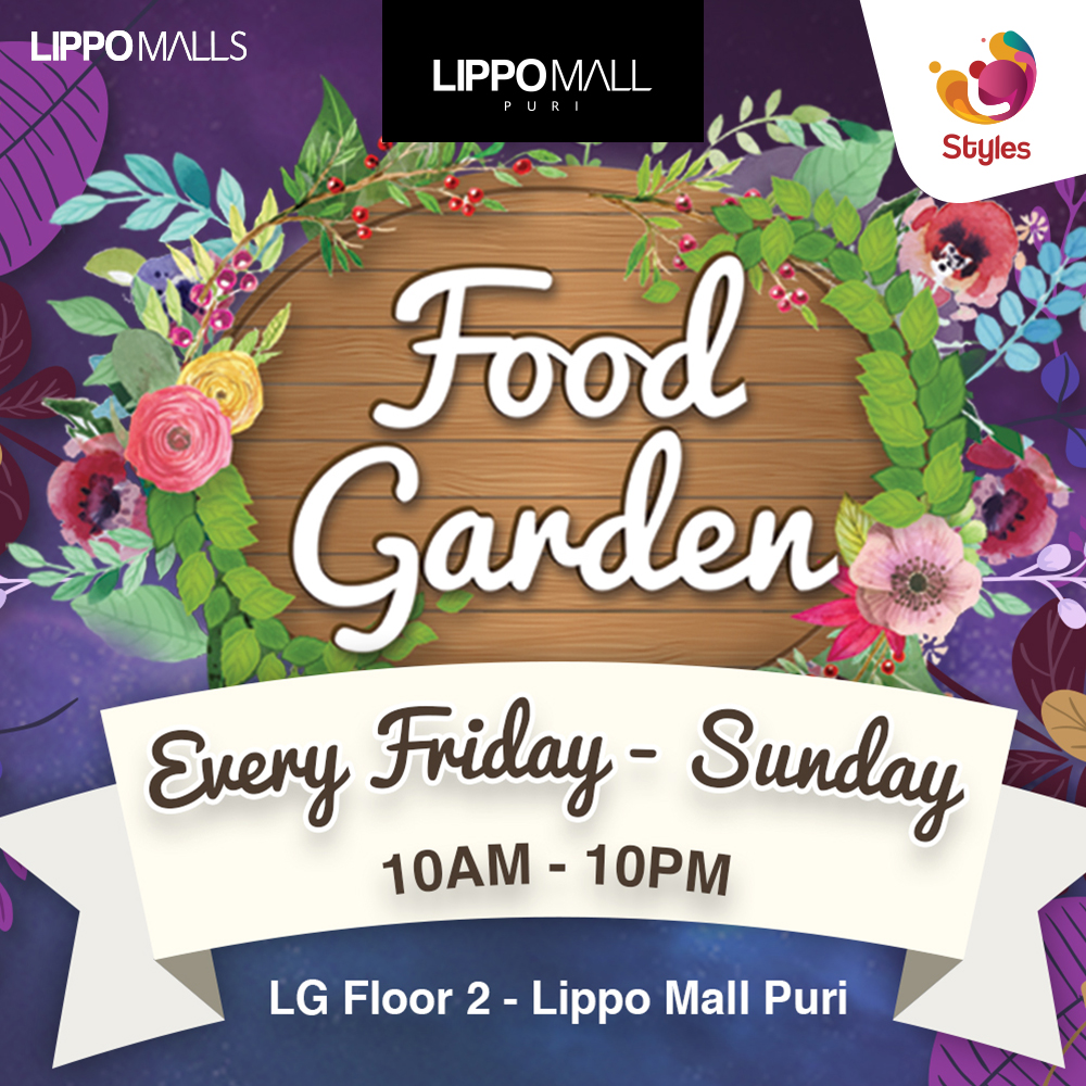 new food garden event in lippo mall puri st. moritz