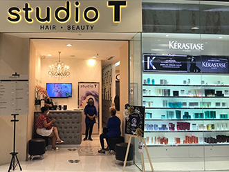 Studio T - Hair & Beauty shop front in lippo mall puri st. moritz