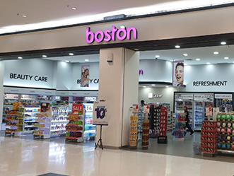 Boston shop front in lippo mall puri st. moritz