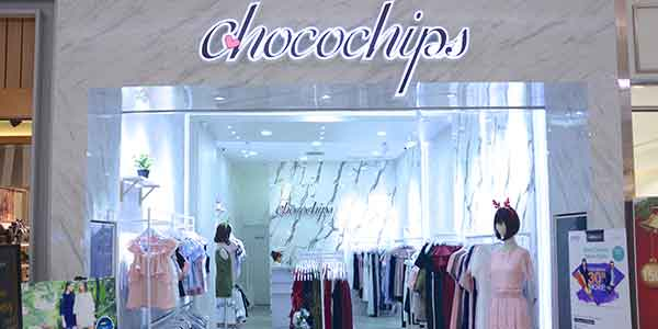 Chocochips shop front in lippo mall puri st. moritz