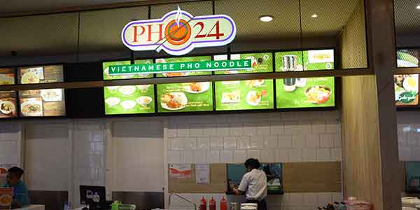 Pho 24 shop front in lippo mall puri st. moritz