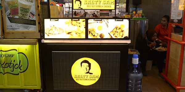 Salty Sam shop front in lippo mall puri st. moritz