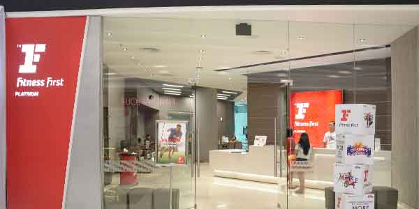 Fitness First shop front in lippo mall puri st. moritz