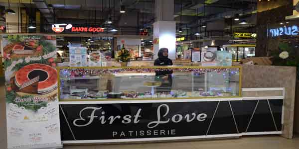 First Love shop front in lippo mall puri st. moritz