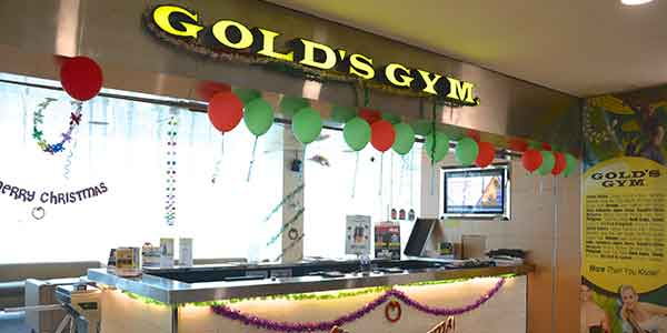 Goldaposs Gym shop front in lippo mall puri st. moritz
