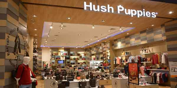 Hush Puppies shop front in lippo mall puri st. moritz