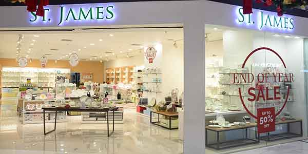 St. James shop front in lippo mall puri st. moritz