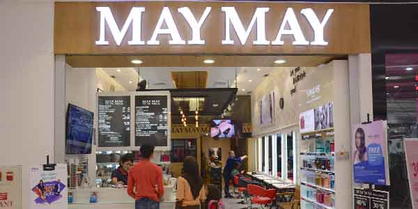 May May Salon shop front in lippo mall puri st. moritz