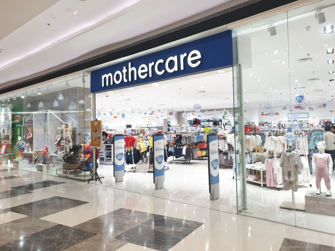 Mothercare & ELC shop front in lippo mall puri st. moritz