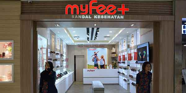My Feet shop front in lippo mall puri st. moritz