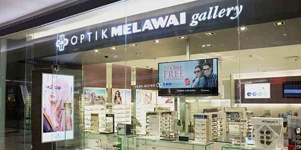 Optik Melawai shop front in lippo mall puri st. moritz