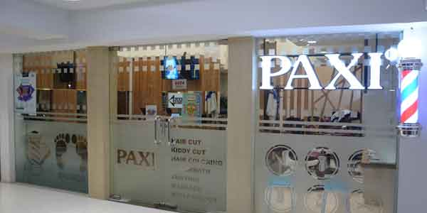 Paxi Barbershop shop front in lippo mall puri st. moritz