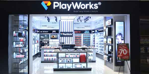 Playworks shop front in lippo mall puri st. moritz