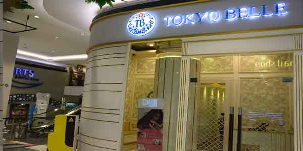 Tokyo Belle shop front in lippo mall puri st. moritz