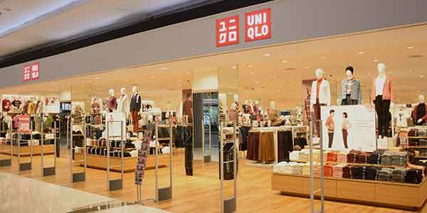Uniqlo shop front in lippo mall puri st. moritz