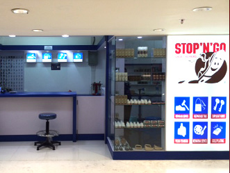 Stop aposNapos Go shop front in lippo mall puri st. moritz