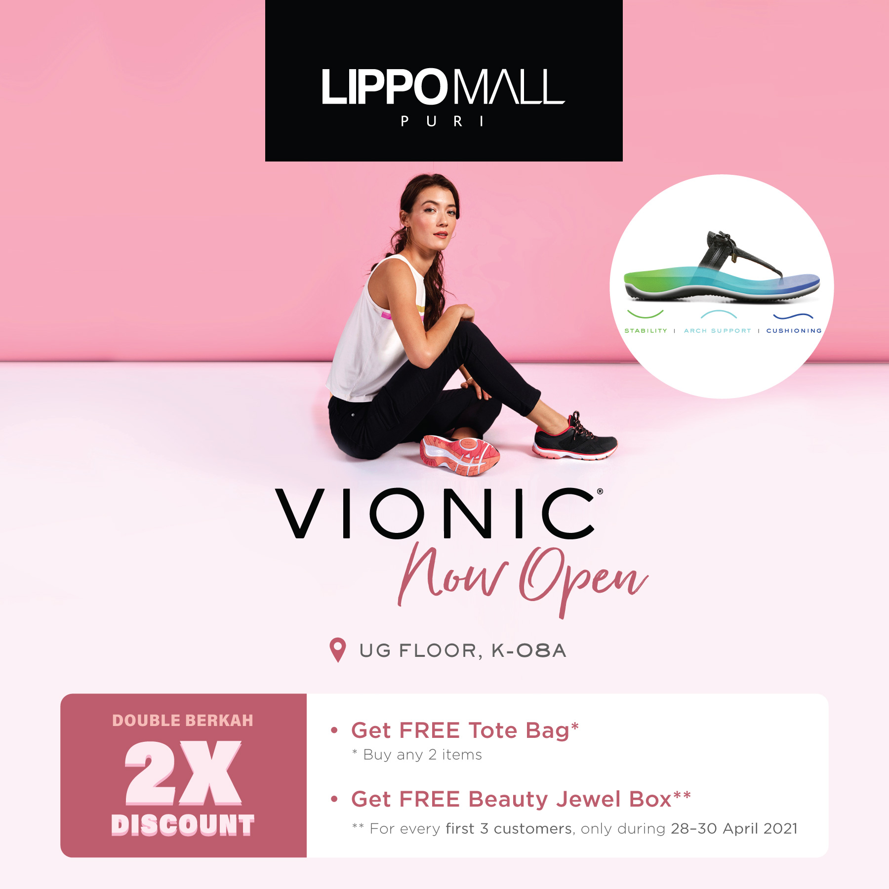 Vionic Now Open in lippo mall puri st. moritz